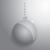 Glass christmas ball. Glossy sphere. Vector illustration Stock Photography