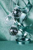 Glass Christmas balls royalty free stock photos