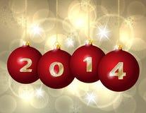 Glass Christmas Balls 2014 Stock Image