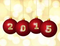Glass Christmas Balls 2015 Stock Images