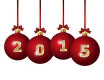 Glass Christmas Balls 2015 Royalty Free Stock Photography