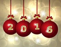 Glass Christmas Balls 2016 Royalty Free Stock Photo