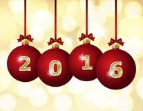 Glass Christmas Balls 2016 Royalty Free Stock Images