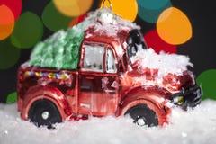 Glass Christmas car Royalty Free Stock Photos