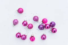 Glass Christmas Decoration pink only Royalty Free Stock Images