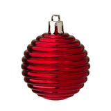 Glass christmas decorations Stock Photography