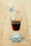 Glass of Christmas mulled wine Stock Photography