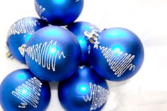 Glass Christmas Ornaments Stock Images