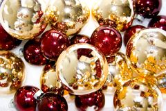Glass Christmas Ornaments royalty free stock images
