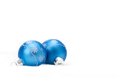 Glass Christmas Ornaments Royalty Free Stock Photos