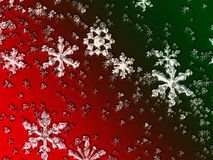 Glass Christmas Snowflakes. Green and gred Stock Image
