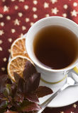 Glass of Christmas tea Stock Image