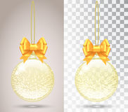 Glass Christmas toy on a transparent background. Royalty Free Stock Photo