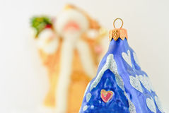 Glass Christmas toys Stock Photo
