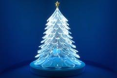 Free Glass Christmas Tree Royalty Free Stock Image - 28367026