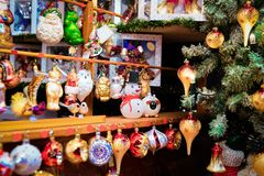 Free Glass Christmas Tree Decorations Of Christmas Market At Alexanderplatz Royalty Free Stock Images - 156853379