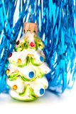 Glass Christmas tree ornament royalty free stock images