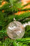 Glass christmas tree ornament Stock Image