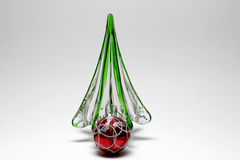 Glass Christmas Tree Red ball Royalty Free Stock Image