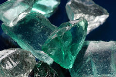 Glass chunks Stock Image