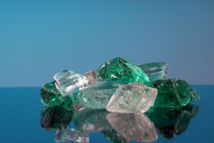 Glass chunks Royalty Free Stock Photos