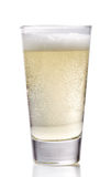 Glass of cider. On a white background stock photo