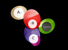 Glass circle abstract background royalty free illustration