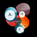 Glass circle abstract background. Glass circle vector abstract background royalty free illustration
