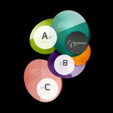 Glass circle abstract background. Glass circle vector abstract background vector illustration