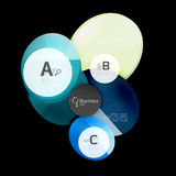 Glass circle abstract background. Glass circle vector abstract background stock illustration