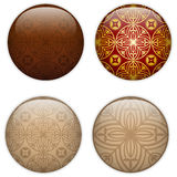 Glass Circle Button Basque Textures Stock Images