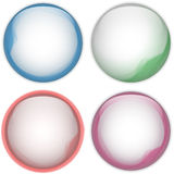 Glass Circle Button Colorful Acqua Royalty Free Stock Photos