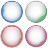 Glass Circle Button Colorful Acqua. Vector - Glass Circle Button Colorful Acqua Royalty Free Stock Photos
