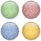 Glass Circle Button Colorful Bubbles Royalty Free Stock Photography