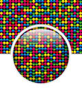 Glass Circle Button Colorful Dots Stock Photo