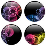 Glass Circle Button Colorful Dots Royalty Free Stock Image