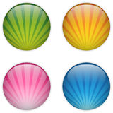 Glass Circle Button Colorful Stripes Royalty Free Stock Photography