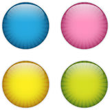 Glass Circle Button Colorful Stripes Stock Images