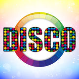 Glass Circle Color Disco Ball Royalty Free Stock Images