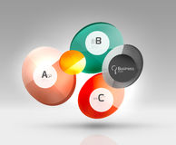 Glass circle infographics Royalty Free Stock Photography