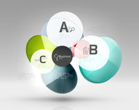 Glass circle infographics Royalty Free Stock Image
