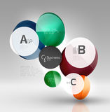 Glass circle infographics Royalty Free Stock Photos