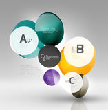 Glass circle infographics Stock Photos
