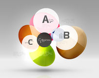 Glass circles banner Stock Photography