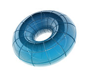 Glass cirkel Arkivbild