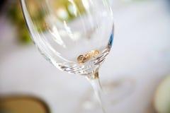 glass cirkelbröllop Arkivfoton