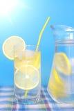 glass citronvatten Arkivbild