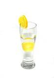 glass citronvatten Arkivfoto