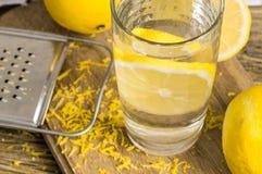 glass citronvatten Royaltyfri Fotografi