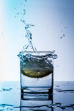 glass citronvatten Royaltyfria Bilder
